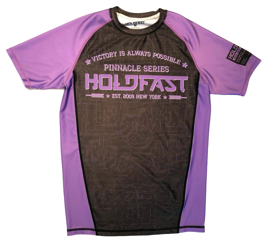 Pinnacle Purple Ranked Short Sleeve Rash Guard