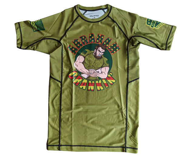 Abe Crankin' Short Sleeve Rash Guard