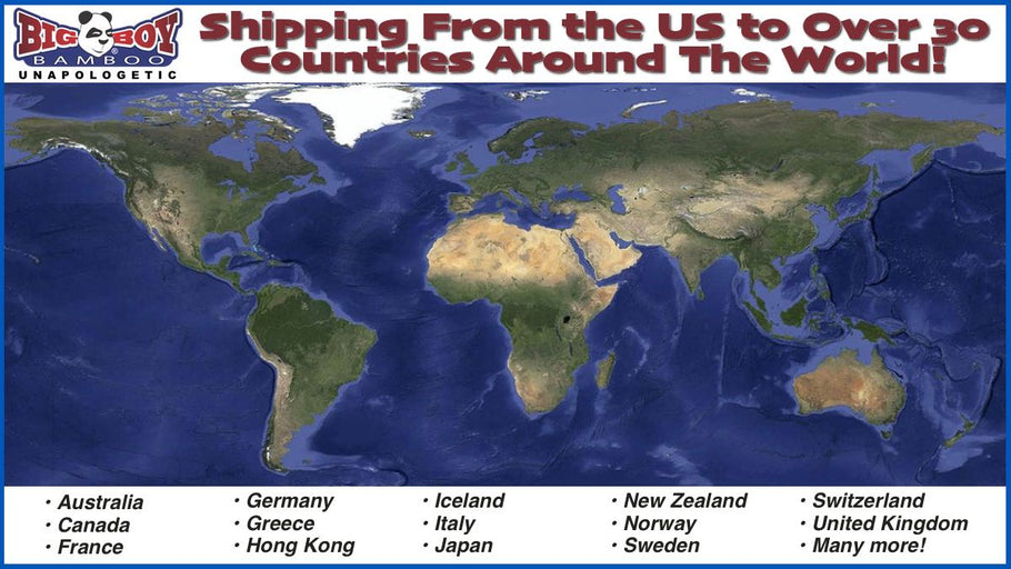 International Shipping Options at Big Boy Bamboo