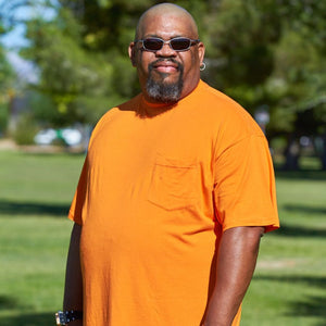 CLEARANCE SALE! Big Men (3XL-8XL) Crew Neck with Pocket Bamboo T-Shirt - Short Sleeve Tee by Big Boy Bamboo
