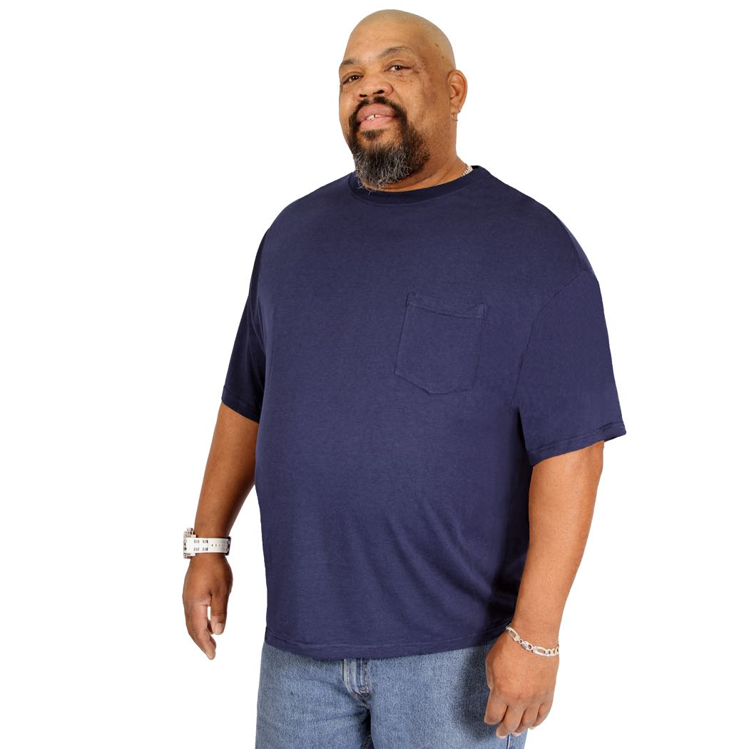 Big (3XL-8XL) Crew Neck with Pocket T-Shirt for Men - Short Sleeve Tee Shirt by Big Boy Bamboo