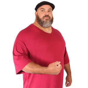 Big (3XL-8XL) V-Neck T-Shirt for Men - Short Sleeve Tee Shirt by Big Boy Bamboo