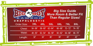 Big Boy Bamboo Big & Tall Size Chart