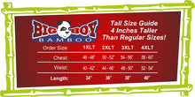 Load image into Gallery viewer, Big Boy Bamboo Tall Size Chart