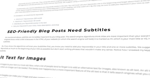 SEO-friendly blog posts need subtitles