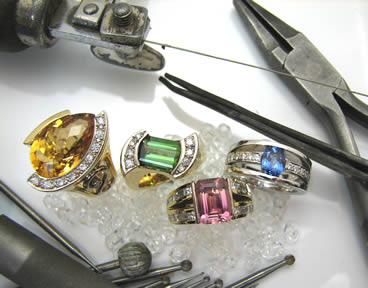 Hand crafted dress rings