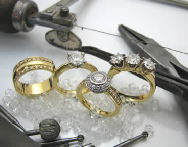 Hand crafted gold and diamond rings