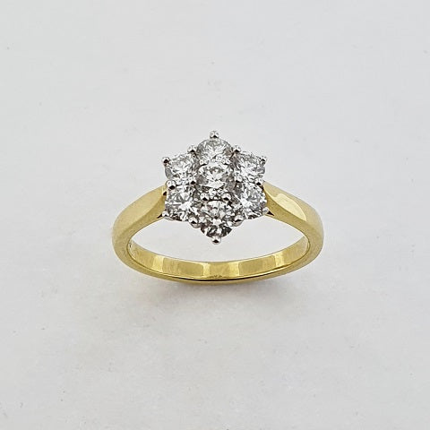 Diamond 18ct Gold Cluster Ring