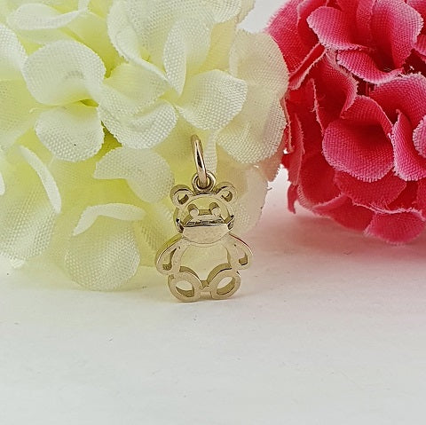 9ct Yellow Gold Lockdown Teddy Bear Charm