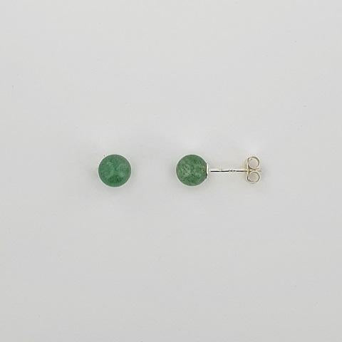 Greenstone Sterling Silver Earrings