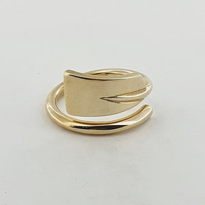 Rowing 9ct Yellow Gold Oar Ring (3 Options Available)