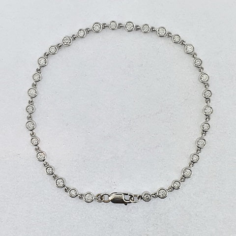 Diamond 18ct White Gold Bracelet