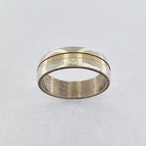 9ct Gold & Sterling Silver Ring