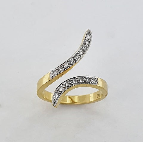 Diamond 18ct Gold Open Ring
