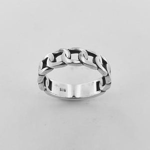 Sterling Silver Link Ring