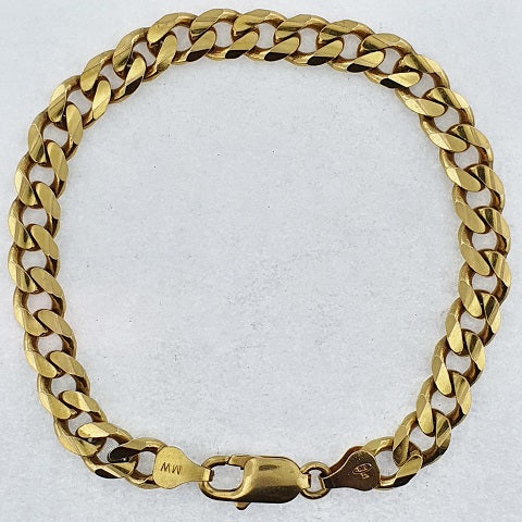 9ct Gold Diamond Cut Curb Bracelet