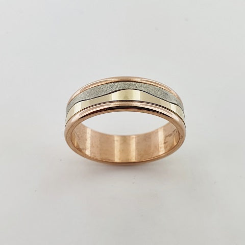 9ct Tri-Tone Gold Ring