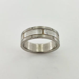 Titanium & Sterling Silver Ring