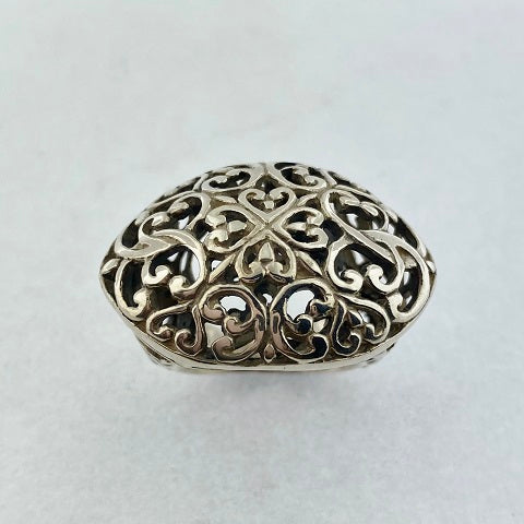 Sterling Silver Wide Filigree Ring