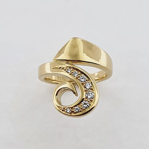 Koru Diamond 18ct Gold Ring