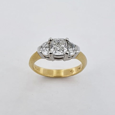 Diamond 18ct Gold & Platinum Ring