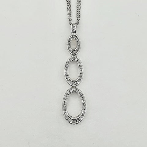 Diamond 18ct White Gold Necklace