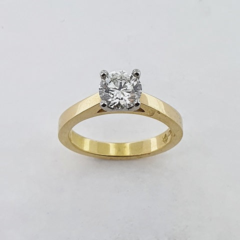 Diamond 18ct Yellow & White Gold Ring