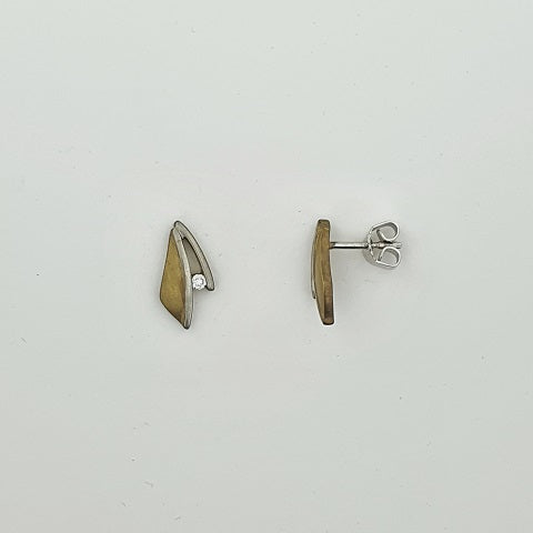 Diamond 9ct Gold Earrings