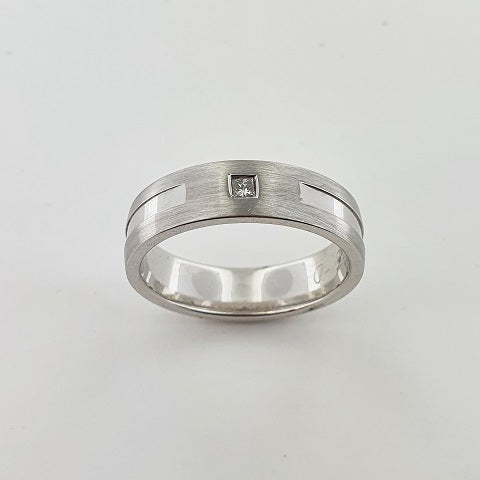 Diamond 9ct White Gold Ring