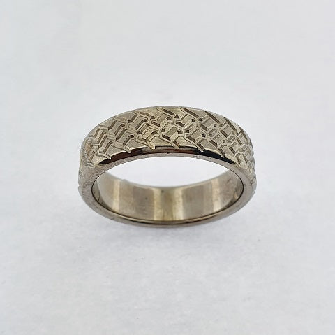 Titanium Engraved Ring