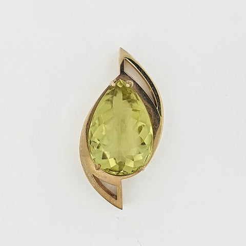 Lemon Quartz 9ct Gold Pendant