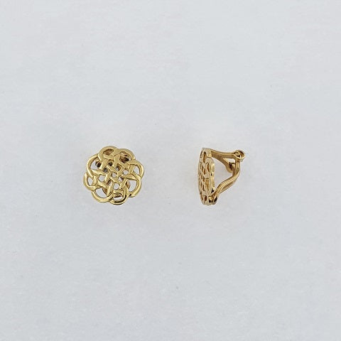 9ct Gold Celtic Clip On Earrings