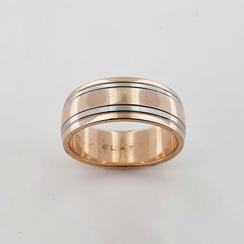 Platinum & 9ct Rose Gold Ring