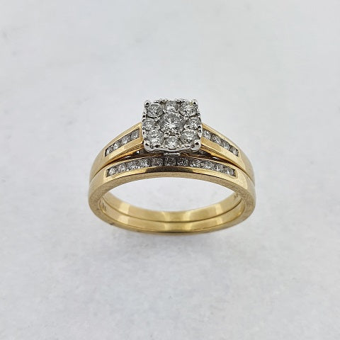 Diamond 9ct Gold Wedding Set