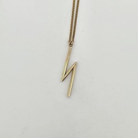9ct Yellow Gold Bolt Necklace