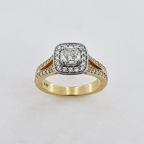 Diamond 18ct Gold Halo Ring