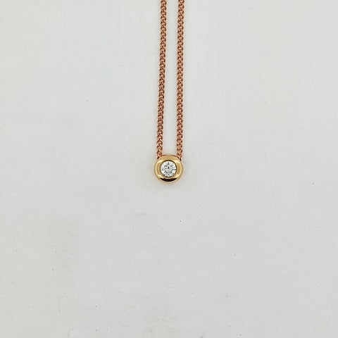 Diamond 9ct & 18ct Gold Necklace