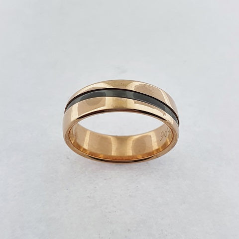 Zirconium & 9ct Gold Ring
