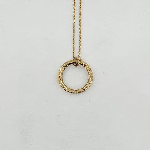9ct Yellow Gold Circle Necklace