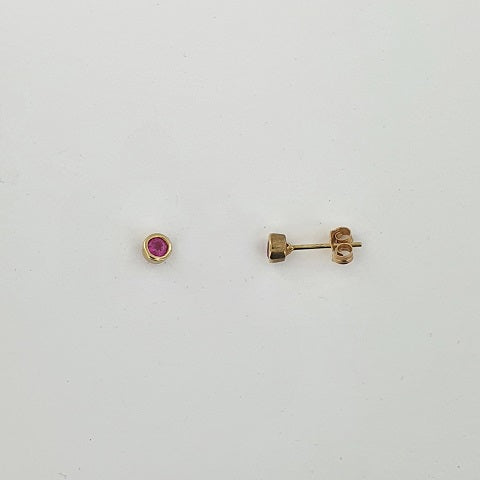 Ruby 9ct Yellow Gold Earrings
