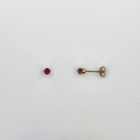 Ruby 9ct Gold Earrings