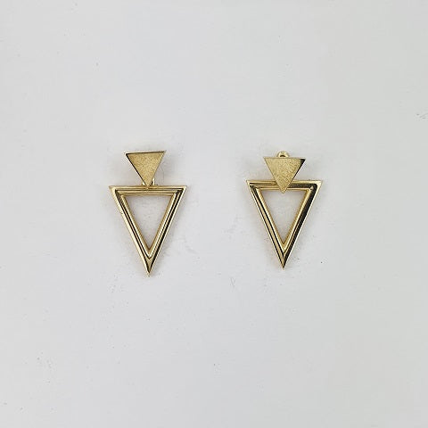 9ct Yellow Gold Triangle Earrings