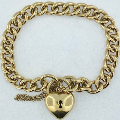 9ct Gold Heavy Curb Bracelet