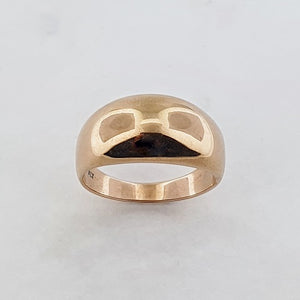 9ct Rose Gold Dome Ring