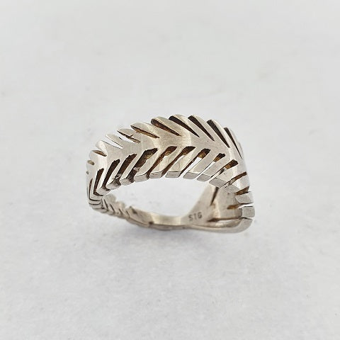 Sterling Silver Fern Ring