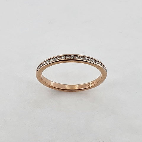 Diamond 9ct Rose Gold Ring