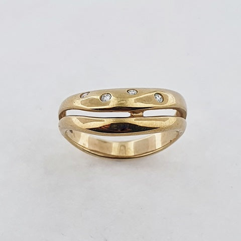 Diamond 9ct Yellow Gold Ring
