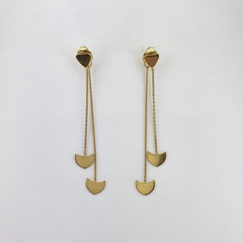 9ct Yellow Gold Thread Earrings