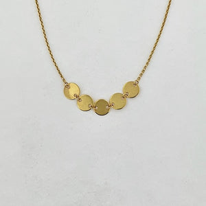 9ct Gold Multi Disc Necklace