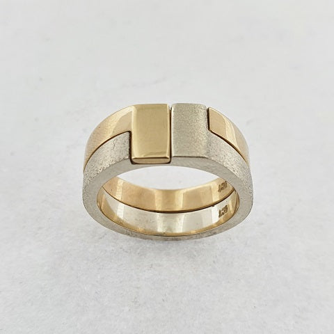 9ct Yellow & White Gold Fit Together Ring